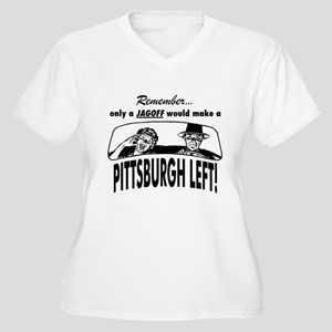 The Pittsburgh Left Women's Plus Size V-Neck T-Shi