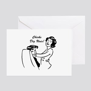 Chicks Dig Unix! Greeting Cards (Pk of 10)