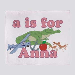 A is for Anna Throw Blanket