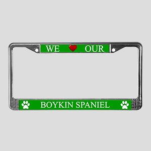Green We Love Our Boykin Spaniel Frame
