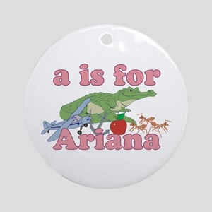 A is for Ariana Ornament (Round)