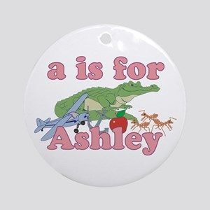 A is for Ashley Ornament (Round)