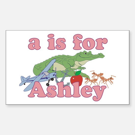 A is for Ashley Sticker (Rectangle)
