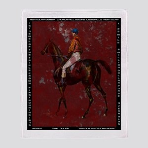 Vintage Kentucky Derby Throw Blanket