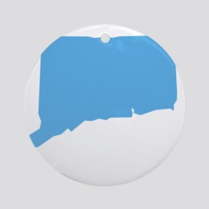 Baby Blue Connecticut Ornament (Round)