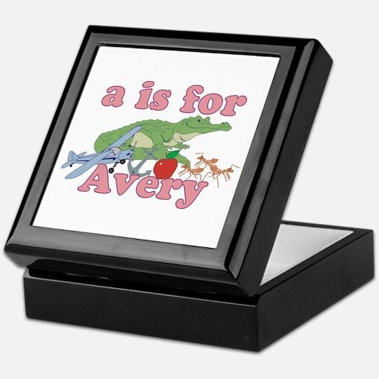 A is for Avery Keepsake Box