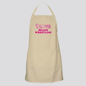 I Love Beach Wrestling Light Apron