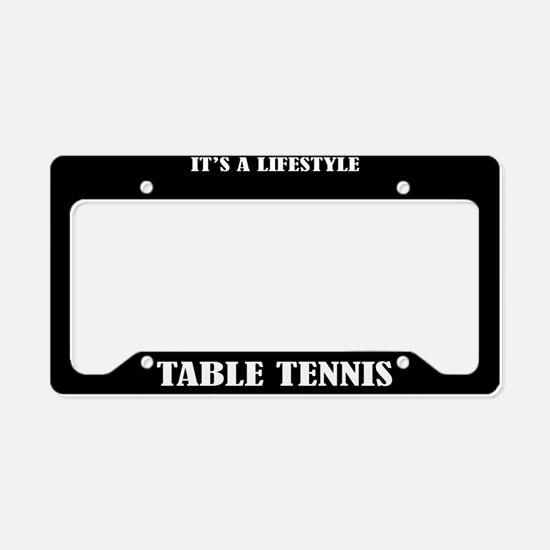 Table Tennis Sports License Plate Holder Frame