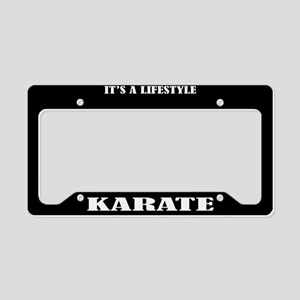 Karate Sports License Plate Holder Frame