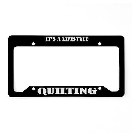 Quilting Gift License Plate Holder Frame