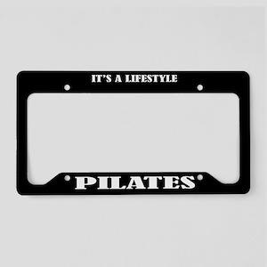 Pilates Gift License Plate Holder Frame