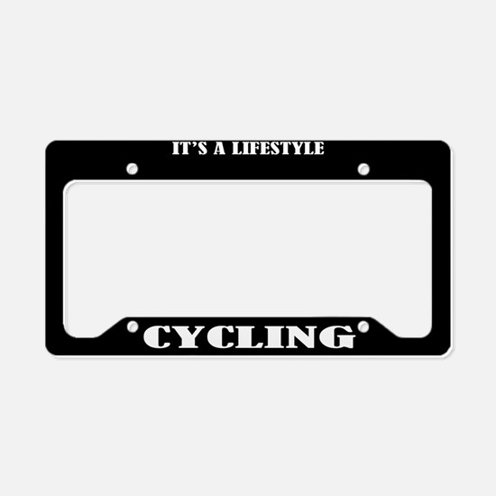 Cycling Sports License Plate Holder Frame