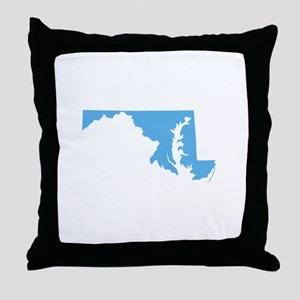 Baby Blue Maryland Throw Pillow
