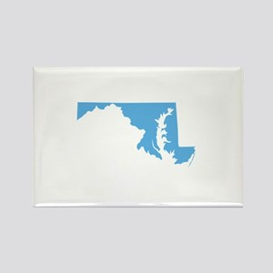 Baby Blue Maryland Rectangle Magnet