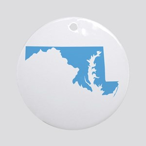 Baby Blue Maryland Ornament (Round)