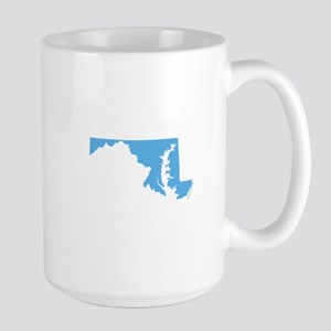 Baby Blue Maryland Large Mug