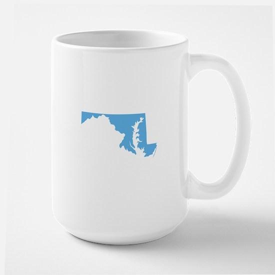 Baby Blue Maryland Large Mug