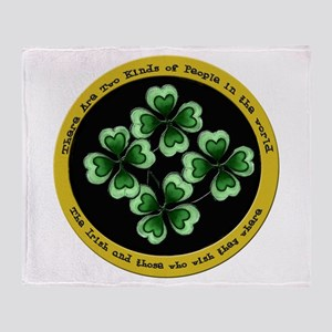Funny Irish Sayings Throw Blanket