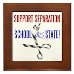 School-State Separation Framed Tile