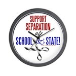 School-State Separation Wall Clock