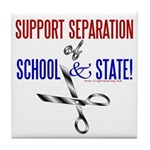 School-State Separation Tile Coaster