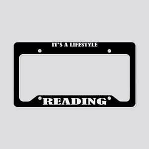 Reading Gift License Plate Holder Frame