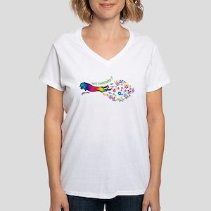 got zoomies? Women's V-Neck T-Shirt