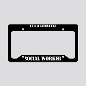 Social Worker Gift License Plate Holder Frame