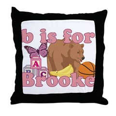 B is for Brooke Throw Pillow