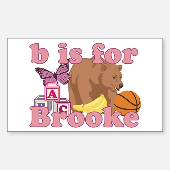B is for Brooke Sticker (Rectangle)