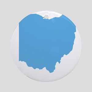 Baby Blue Ohio Ornament (Round)