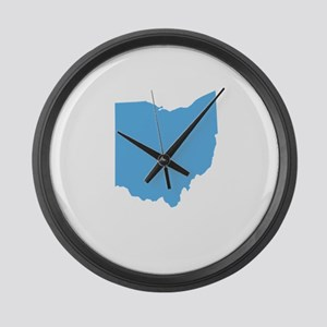 Baby Blue Ohio Large Wall Clock