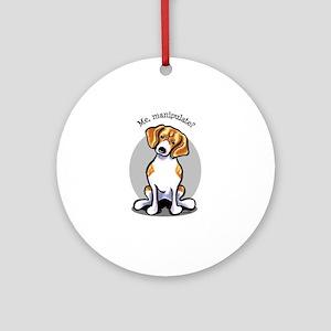 Funny Beagle Ornament (Round)