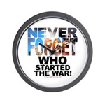 Never Forget Who Wall Clock