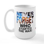 Never Forget Who Large Mug