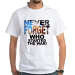 Never Forget Who White Tee