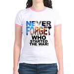 Never Forget Who Jr. Ringer Tee