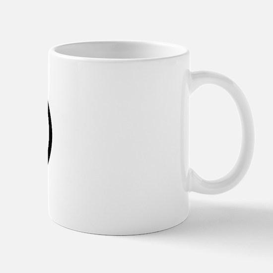 Breastfeeding Mom Black Oval Mug