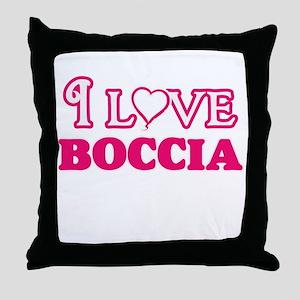 I Love Boccia Throw Pillow