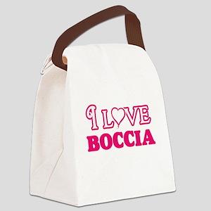 I Love Boccia Canvas Lunch Bag