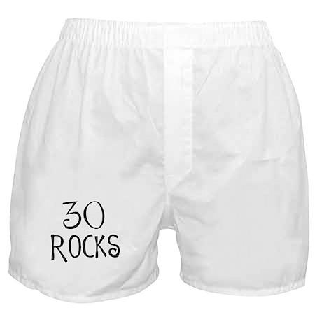 30th birthday saying, 30 rocks! Boxer Shorts