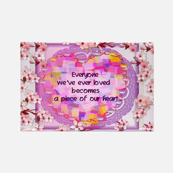 Pieces Of Our Hearts Rectangle Magnet