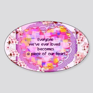 Pieces Of Our Hearts Oval Sticker