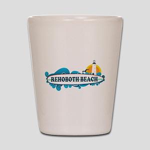 Rehoboth Beach DE - Surf Design Shot Glass