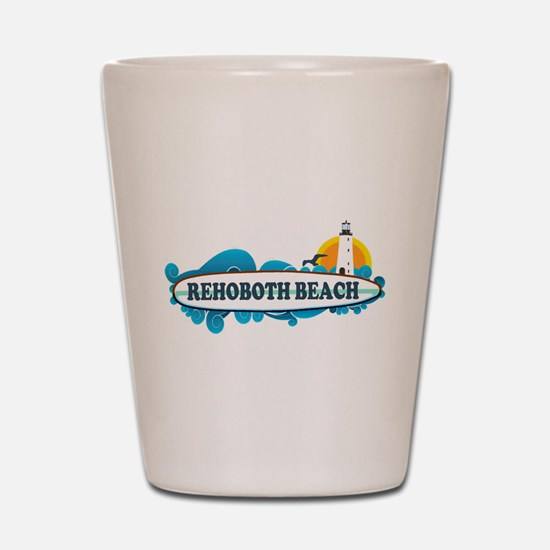 Rehoboth Beach DE - Surf Design Shot Glass