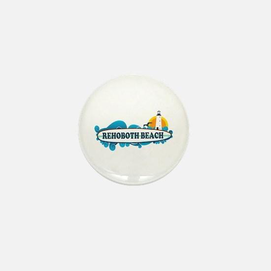 Rehoboth Beach DE - Surf Design Mini Button