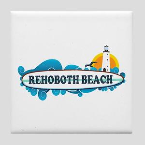 Rehoboth Beach DE - Surf Design Tile Coaster