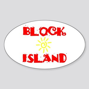 BLOCK ISLAND III Sticker (Oval)