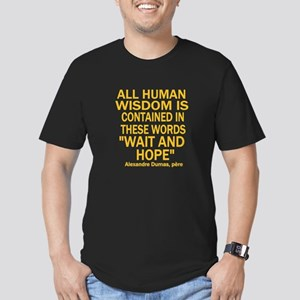 Wait and Hope Men's Fitted T-Shirt (dark)