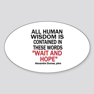 Wait and Hope Sticker (Oval)